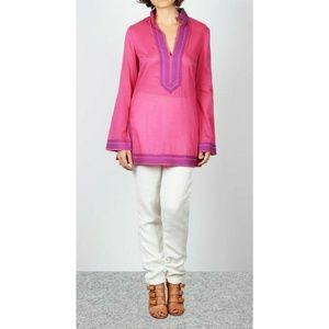 Tory Burch Daria Cotton Tunic in Fushia Size 2